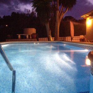 Zwembad `s Avonds Vanaf Trap